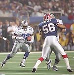 Emmitt Smith earned MVP honors after rushing for 132 yards and two TDs.