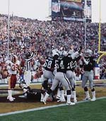 Derrick Jensen's touchdown on a blocked punt ignited a Los Angeles onslaught.