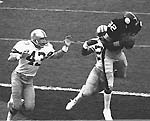 John Stallworth  victimized the Cowboys for two first-half touchdowns.