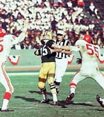 Bart Starr led the Packers to victory in Super Bowl I