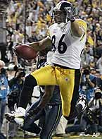 Game MVP Hines Ward finished with five catches for 123 yards and the final.
