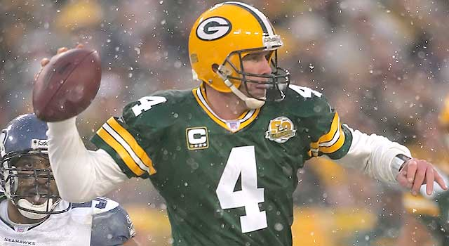release date: fd979 c70a4 QB icon Favre against the other Manning in NFC title game ...