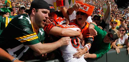 Chad Ochocinco Lambeau Leap