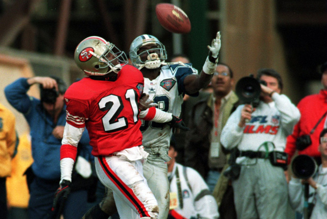 deion sanders, michael irvin, dallas cowboys, san francisco 49ers