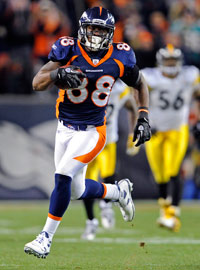 Denver's Demaryius Thomas slayed the Steelers with this touchdown.