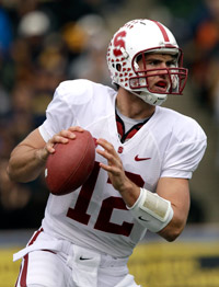 Andrew Luck has thrown 45 touchdown passes with just 12 interceptions in two seasons as Stanford's QB.