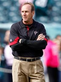 Falcons offensive coordinator Mike Mularkey interviewed Saturday with Cleveland Browns president Mike Holmgren and general manager Tom Heckert.