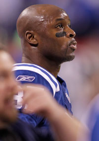 Reggie Wayne has seen better days than Saturday, when he was held to just one catch for 1 yard by Darrelle Revis.