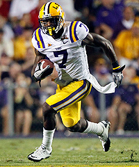 In his junior year, Patrick Peterson captured the Thorpe Award as the nation's top defensive back and the Bednarik Award as the top defender in college football.