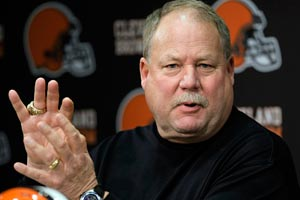 Browns president Mike Holmgren is keeping his head-coaching search close to the vest.