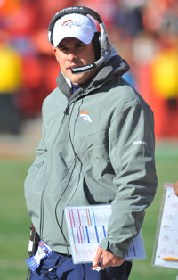 Josh McDaniels, dismissed last month as Broncos head coach, is the Rams' new offensive coordinator.