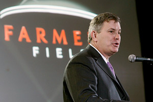 AEG president Tim Leiweke presented Tuesday his plan for a professional football stadium to be built in downtown Los Angeles and named Farmers Field.