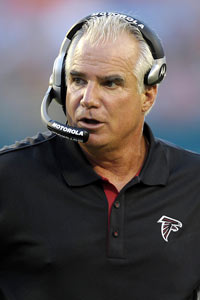 Mike Smith, who has a 33-15 record in three seasons, is signed as Falcons coach through the 2014 season.