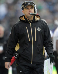 Sean Payton has recorded a 53-33 overall record in five years as head coach of the New Orleans Saints.
