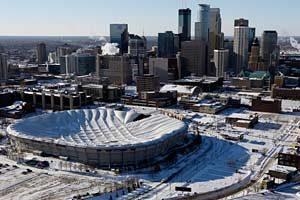 The Vikings estimate they lost between $12 million and $18 million in December after the Metrodome's roof collapsed.