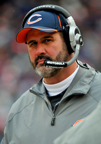 Offensive line coach Mike Tice is under contract with the Chicago Bears through 2012 after receiving an extension.