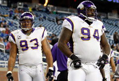Minnesota Vikings defensive linemen Kevin Williams (left) and Pat Williams both tested positive for a banned diuretic in 2008.