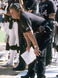 Jerry Glanville coached the Atlanta Falcons from 1990 to 1993. He also coached the Houston Oilers from 1985 to 1989.