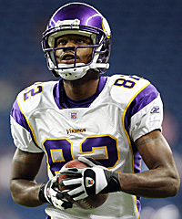 The heir apparent to Randy Moss, Troy Williamson (above) was not. And the Vikings' 2005 draft didn't get any better after that.