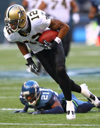 The Saints found a true No. 1 receiver in the seventh round in Marques Colston.