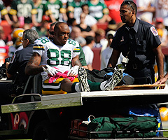 Jermichael Finley had 21 catches for 301 yards and a touchdown before going down with a knee injury in Week 5.