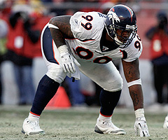 Kevin Vickerson had a productive first season in Denver, finishing with 42 tackles, two sacks and one interception in 15 games.