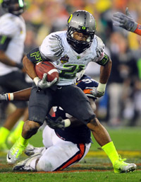 Oregon RB LaMichael James was electrifying in 2010 with 24 touchdowns.