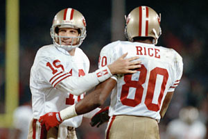 Joe Montana and Jerry Rice brought great joy to fans in San Francisco.