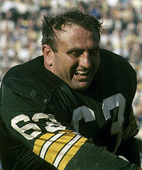 Fuzzy Thurston played with the Green Bay Packers from 1959 to 1967, helping them win Super Bowls I and II.