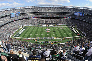 New Meadowlands Stadium is the only facility that's home to two NFL teams.