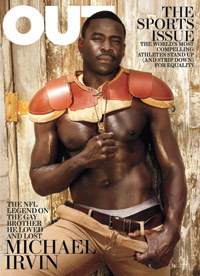 Hall of Fame WR Michael Irvin appears on the cover of the latest Out magazine, in which he discusses his support for equal rights and reveals that his late older brother was gay.