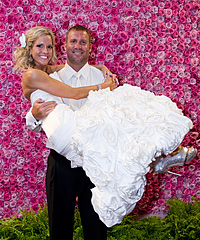 Steelers QB Ben Roethlisberger married Ashley Harlan on Saturday following a five-year on-and-off courtship.