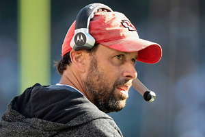 Todd Haley is 3-0 while sporting a beard, a hoodie and his ratty hat.