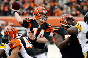Andy Dalton and the Bengals visit the Steelers on Sunday in a pivotal AFC North battle.