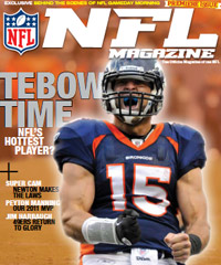 The first issue of NFL Magazine, which features Tim Tebow on the cover, hits newsstands Tuesday. Want to subscribe? <a href=http://www.thenflmagazine.com/>Click here.</a>