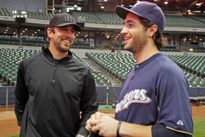 Aaron Rodgers (left) and Ryan Braun own Wisconsin.