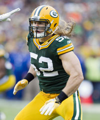 Clay Matthews was a walk-on in college before becoming an all-pro with the Packers.