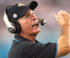 Tom Coughlin went 68-60 as the Jaguars' coach from 1995 to 2002, with two AFC title game appearances.