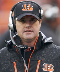 Jay Gruden joined the Bengals this season and coordinated an offense that featured a rookie QB yet reached the playoffs.
