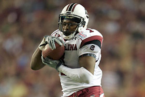 South Carolina receiver Alshon Jeffery is an enigmatic talent.