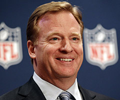 Roger Goodell, who became NFL commissioner in 2006, now is under contract through March 2019.