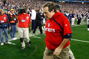 Bill Belichick's red hoodie from Super Bowl XLII is the stuff of legend.
