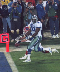 Despite Leon Lett's premature celebration, Dallas rolled in Super Bowl XXVII.
