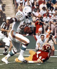 Miami completed a perfect 17-0 season with a 14-7 win in Super Bowl VII.