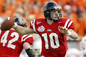 Eli Manning broke or tied 45 school records during his career at Ole Miss.