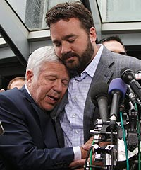 Patriots owner Robert Kraft's emotional hug with Colts center Jeff Saturday inserted humanity into the lockout.