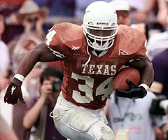 Ricky Williams churned out 6,592 yards rushing over four years at Texas.