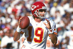 Joe Montana played two seasons with the Chiefs, reaching the AFC title game in 1993.