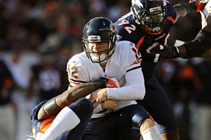 Caleb Hanie's career with the Chicago Bears appears over after four seasons.