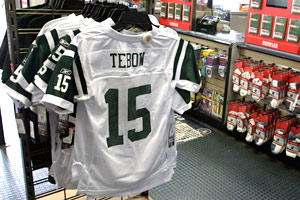 Have you bought a potentially unauthorized Tim Tebow jersey? C'mon ... be honest.
